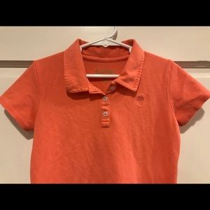 Lilly Pulitzer Girls Pique Polo Dress M 6/7 Coral